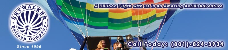 Utah Hot AIr Balloon Rides and Ballooning ADventures by Skywalker Balloon Company